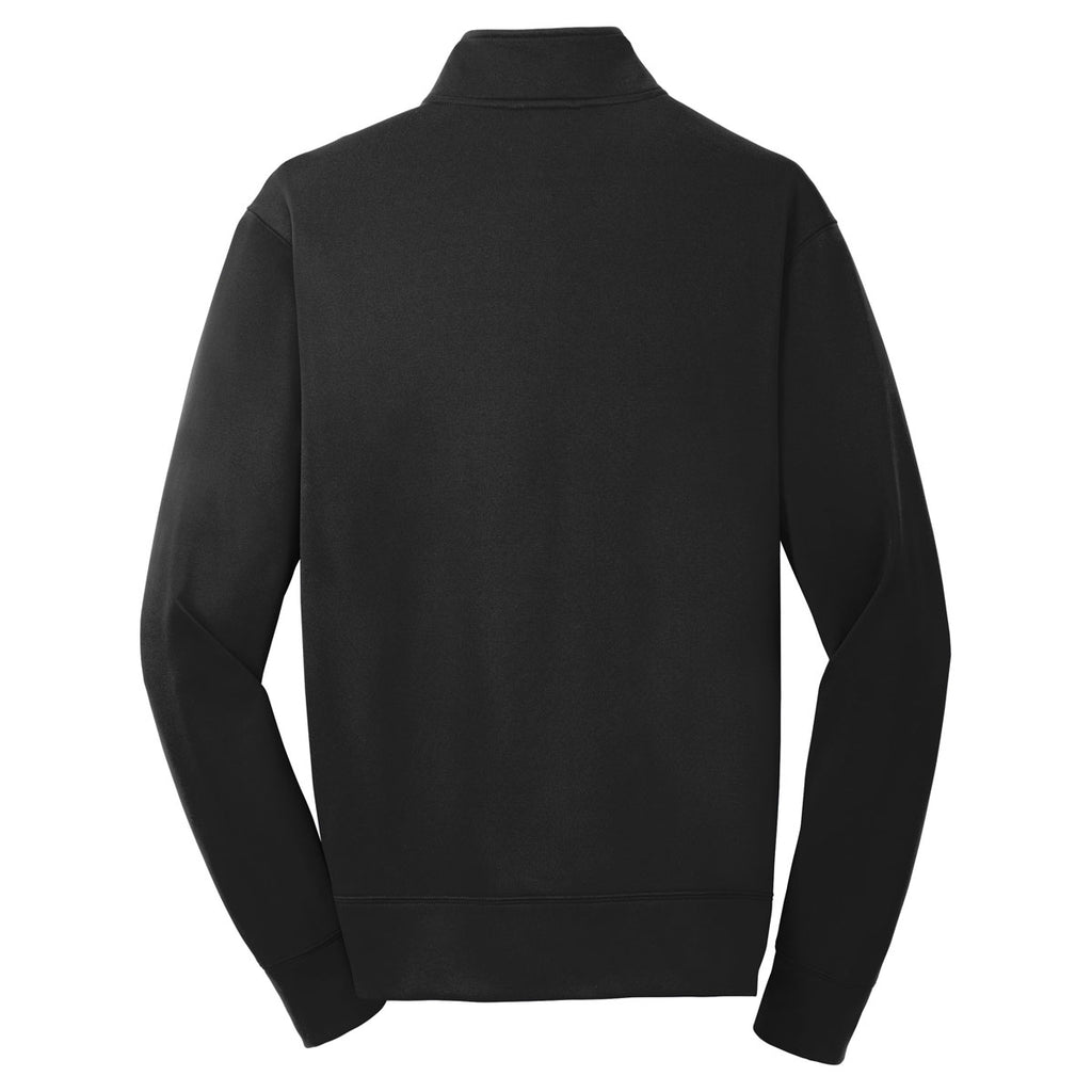 Sport-Tek Youth Black Sport-Wick Fleece Full-Zip Jacket