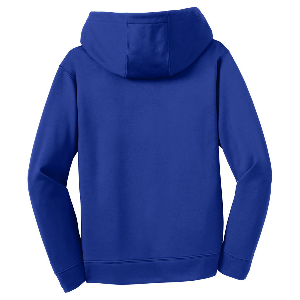 Sport-Tek Youth True Royal Sport-Wick Fleece Hooded Pullover