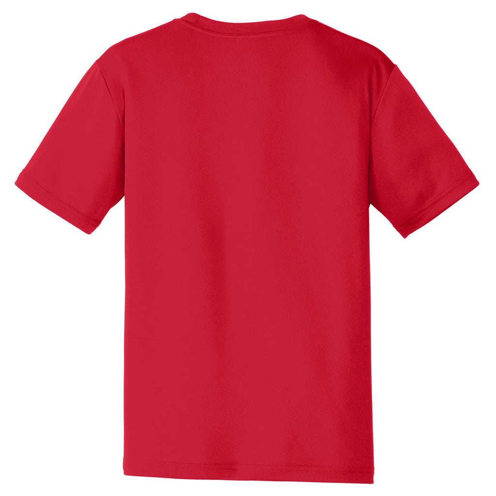 Sport-Tek Youth Deep Red PosiCharge Tough Tee