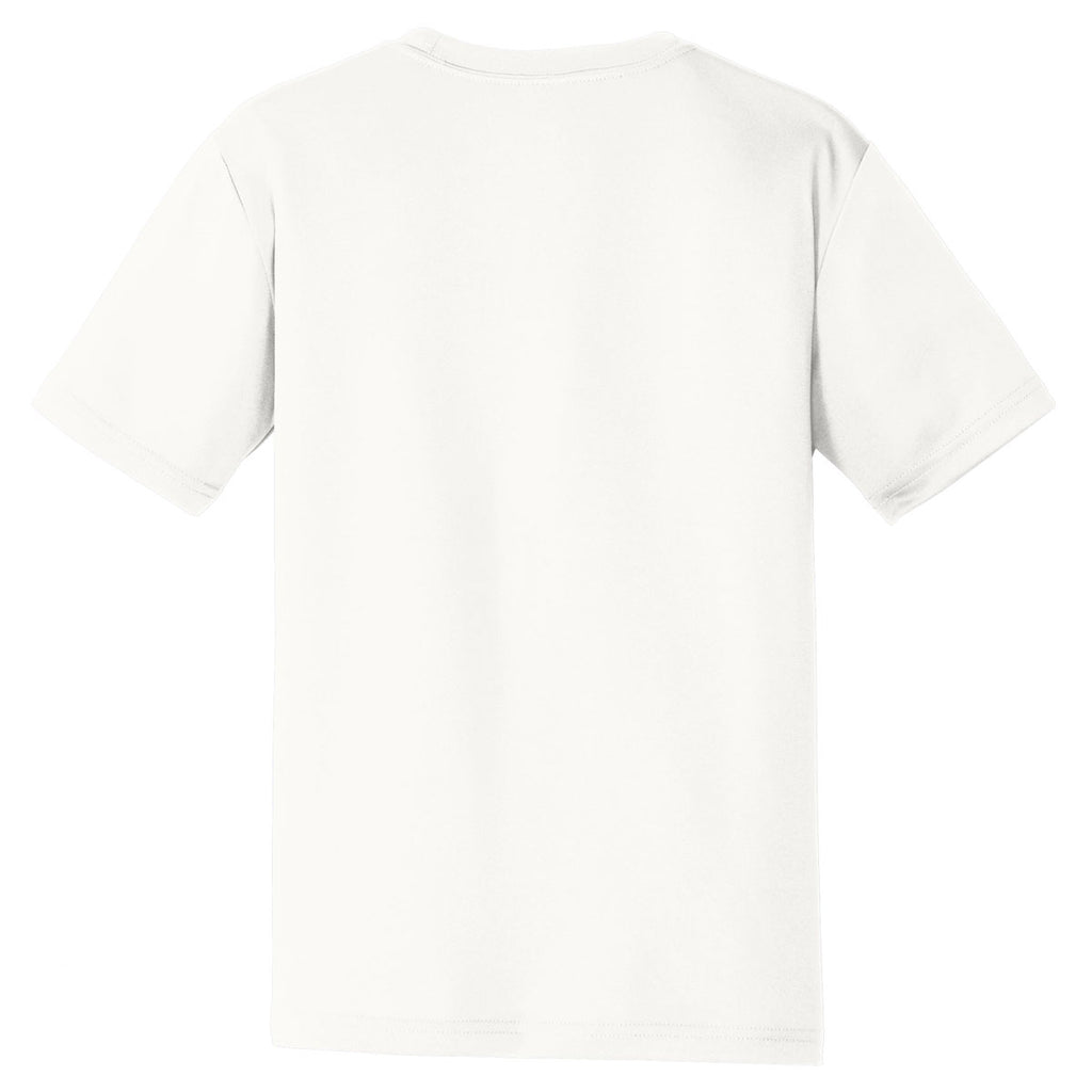 Sport-Tek Youth White PosiCharge Tough Tee