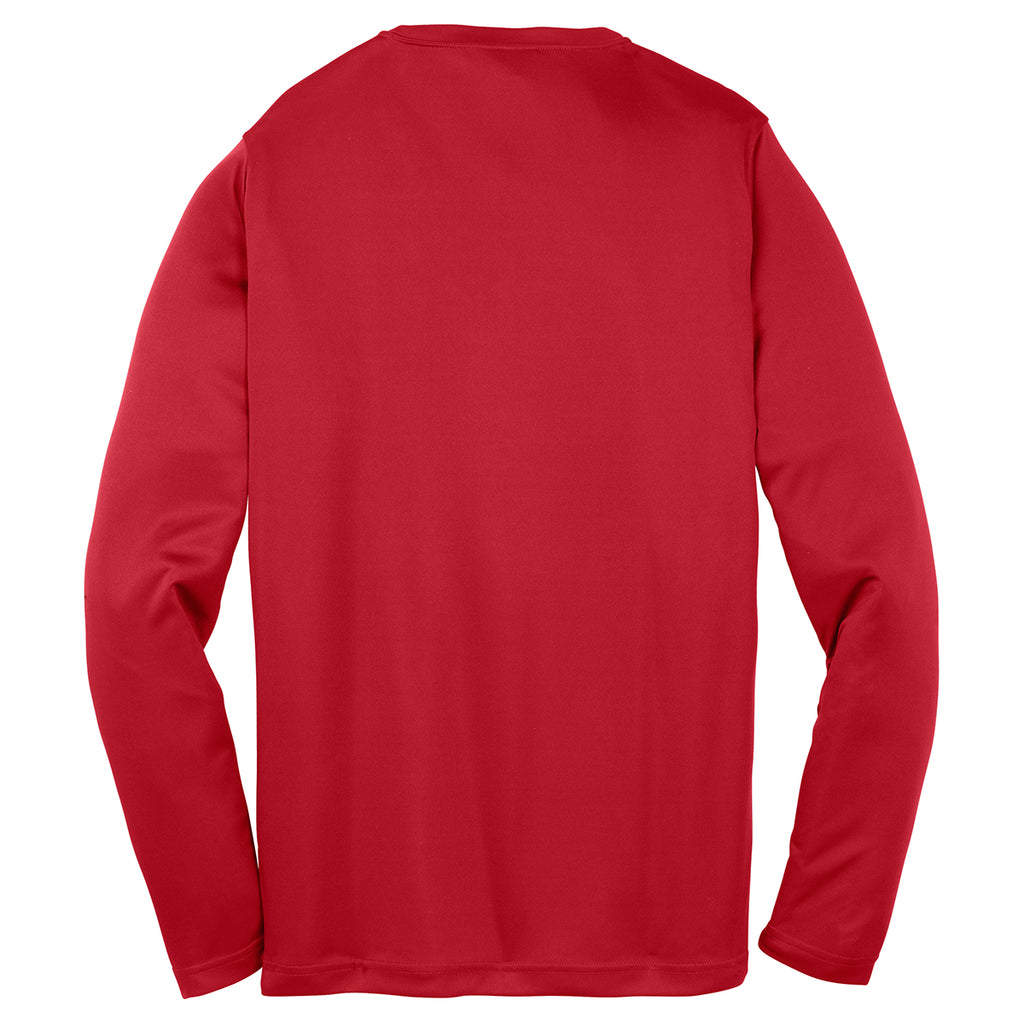 Sport-Tek Youth True Red Long Sleeve PosiCharge Competitor Tee