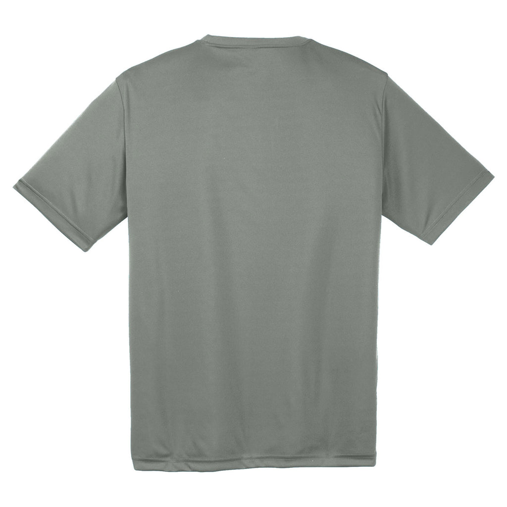Sport-Tek Youth Grey Concrete PosiCharge Competitor Tee