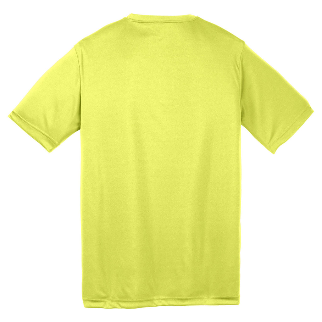 Sport-Tek Youth Neon Yellow PosiCharge Competitor Tee