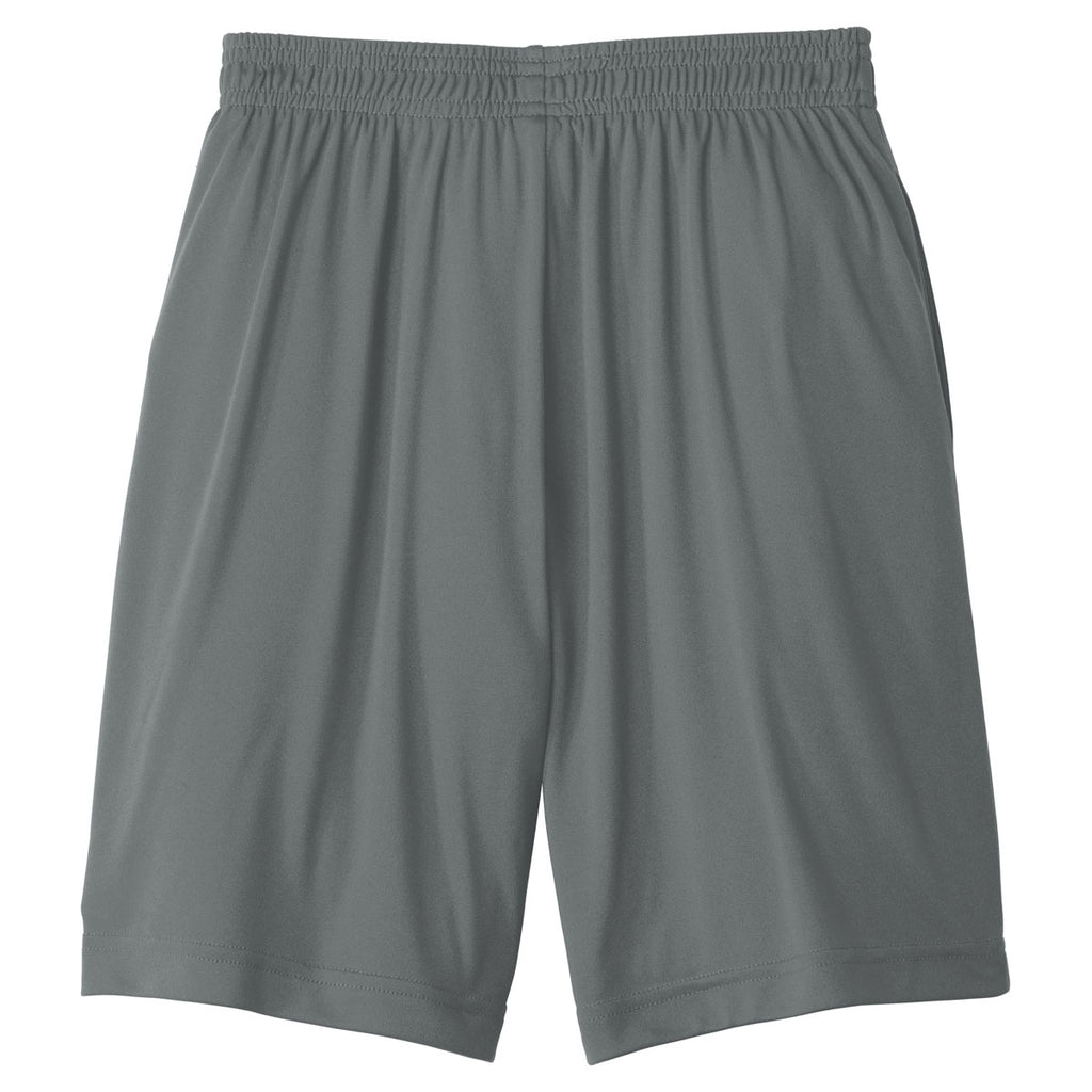 Sport-Tek Youth Iron Grey PosiCharge Competitor Pocketed Short