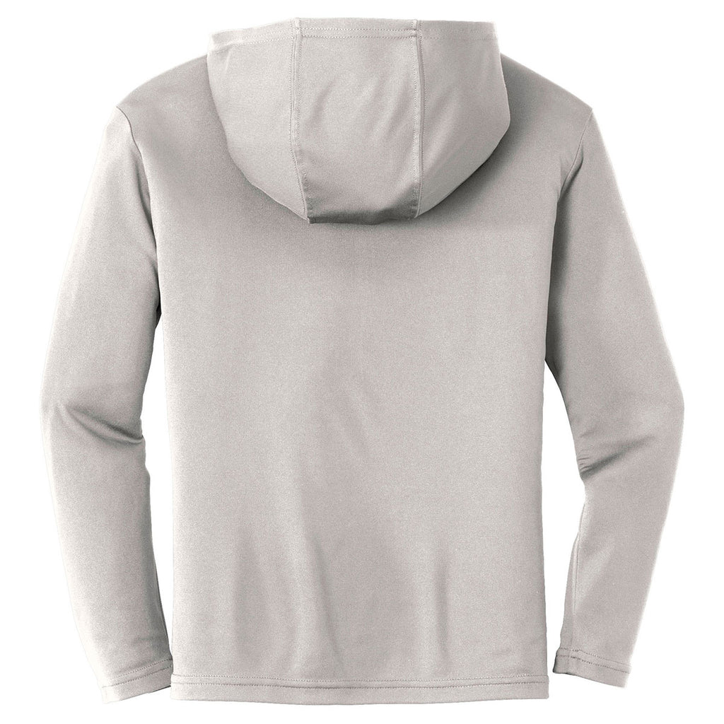 Sport-Tek Youth Silver PosiCharge Competitor Hooded Pullover