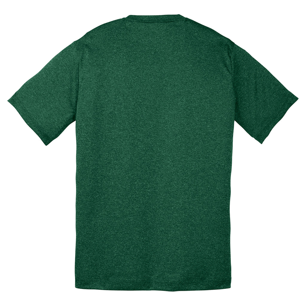 Sport-Tek Youth Forest Green Heather Contender Tee