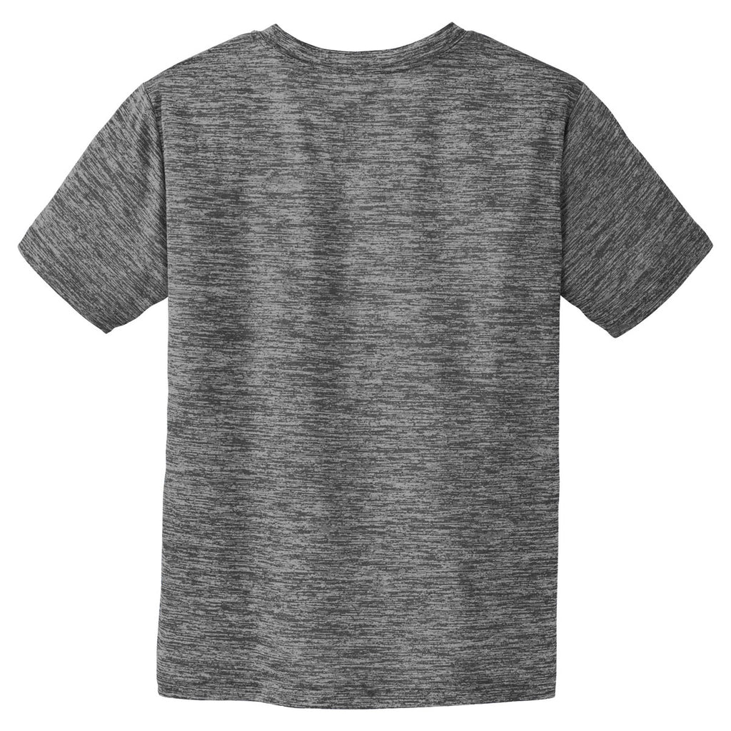 Sport-Tek Youth Grey-Black Electric PosiCharge Electric Heather Tee