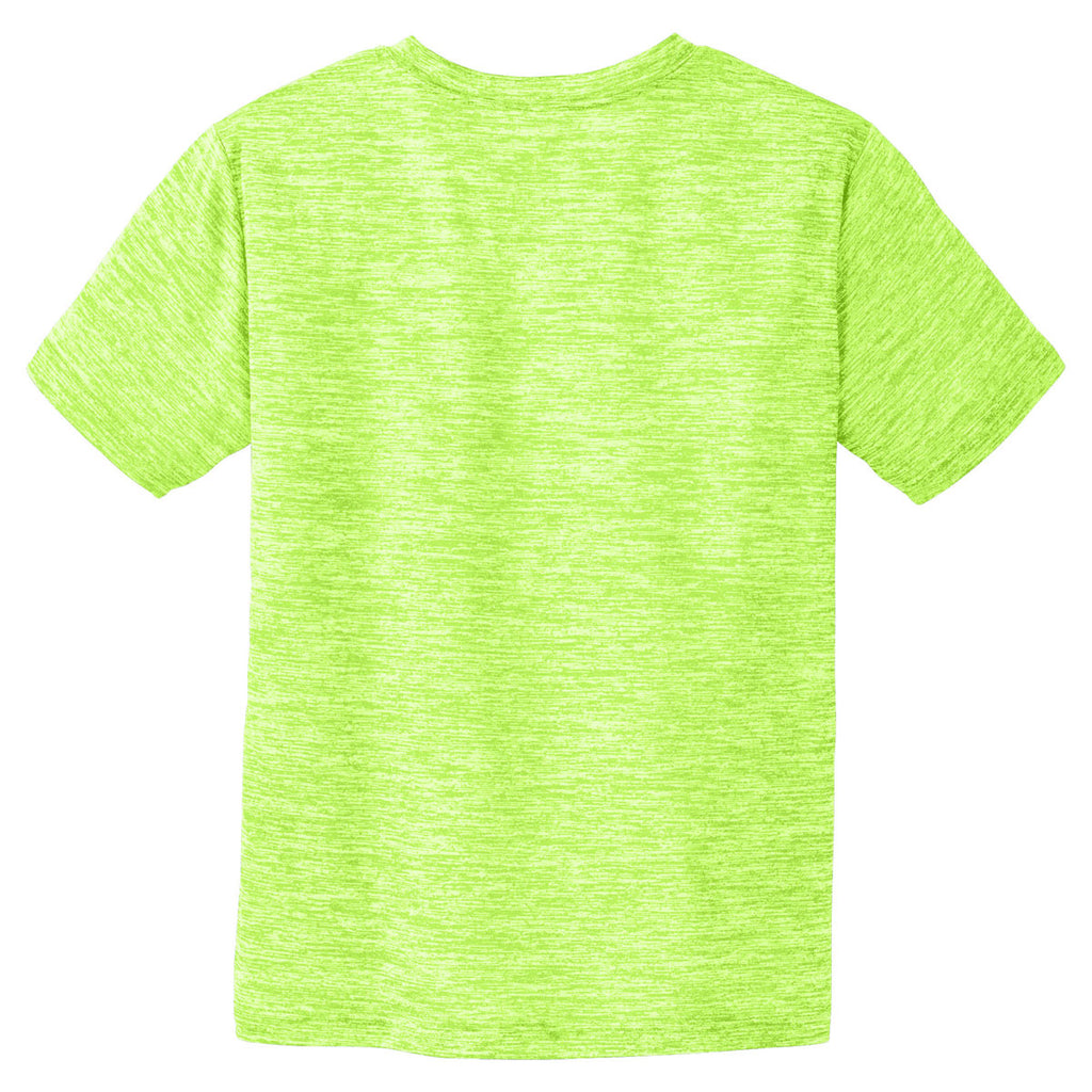 Sport-Tek Youth Lime Shock Electric PosiCharge Electric Heather Tee