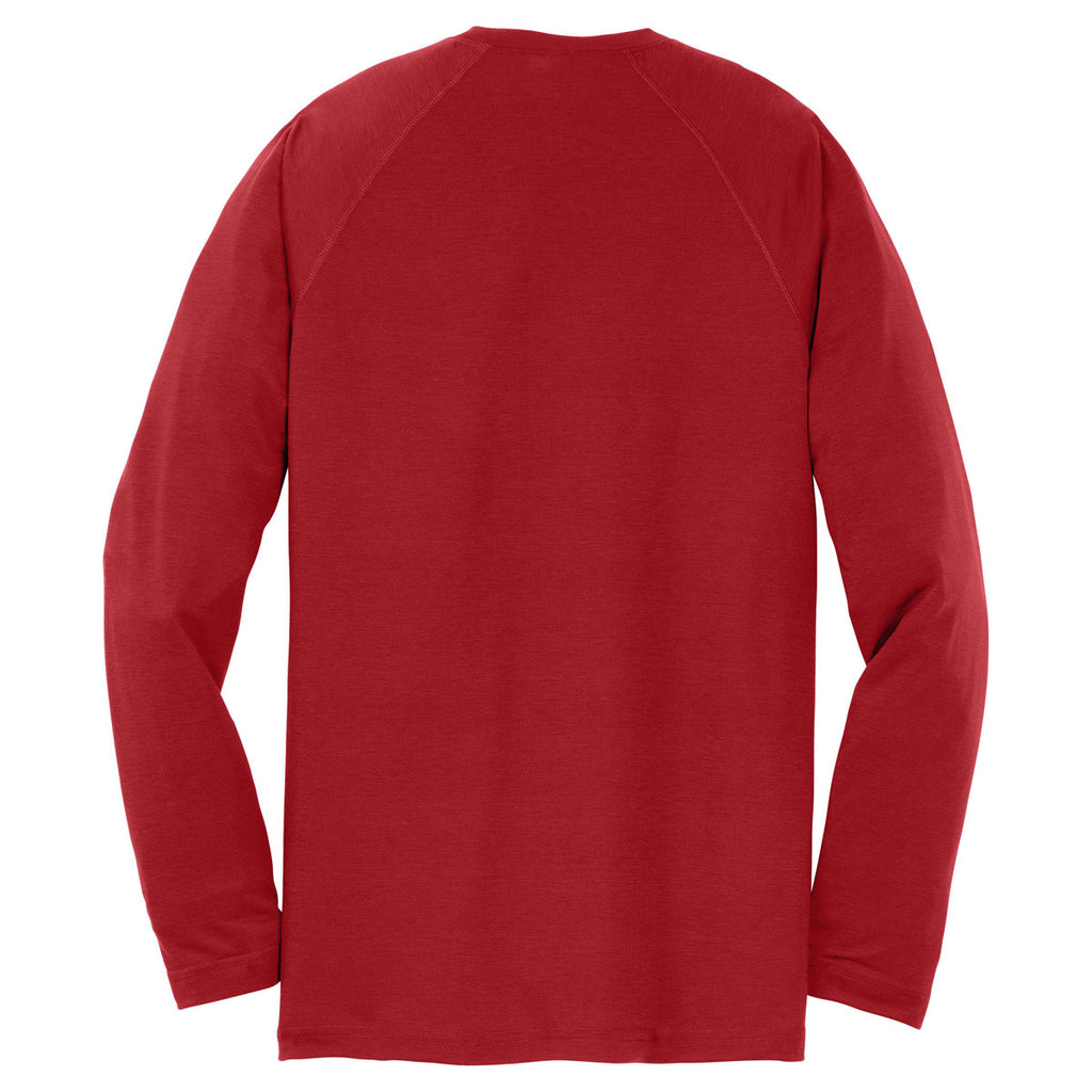 Sport-Tek Youth True Red Long Sleeve Ultimate Performance Crew