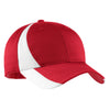 ystc11-sport-tek-red-colorblock-cap