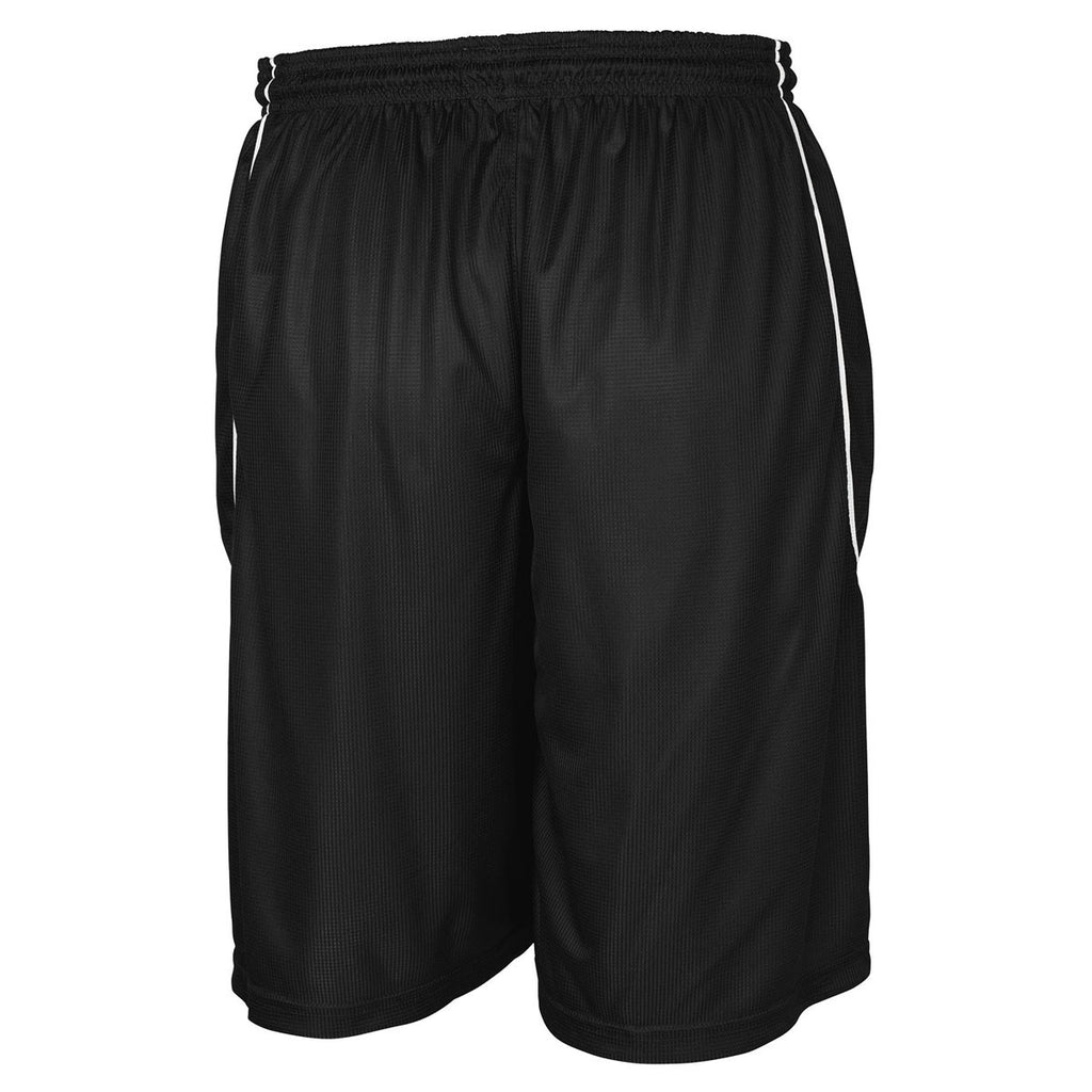 Sport-Tek Youth Black PosiCharge Mesh Reversible Spliced Short