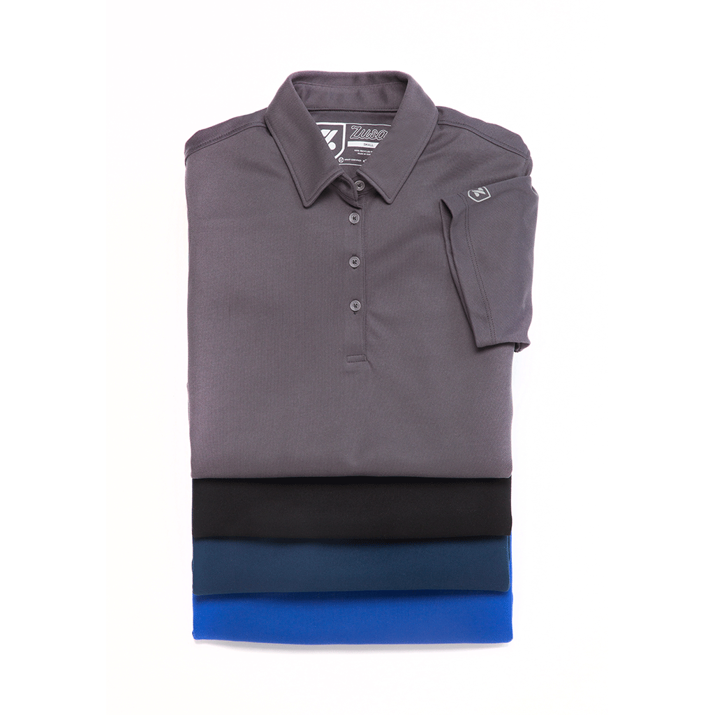 Zusa Men's Black Everyday Pique Polo