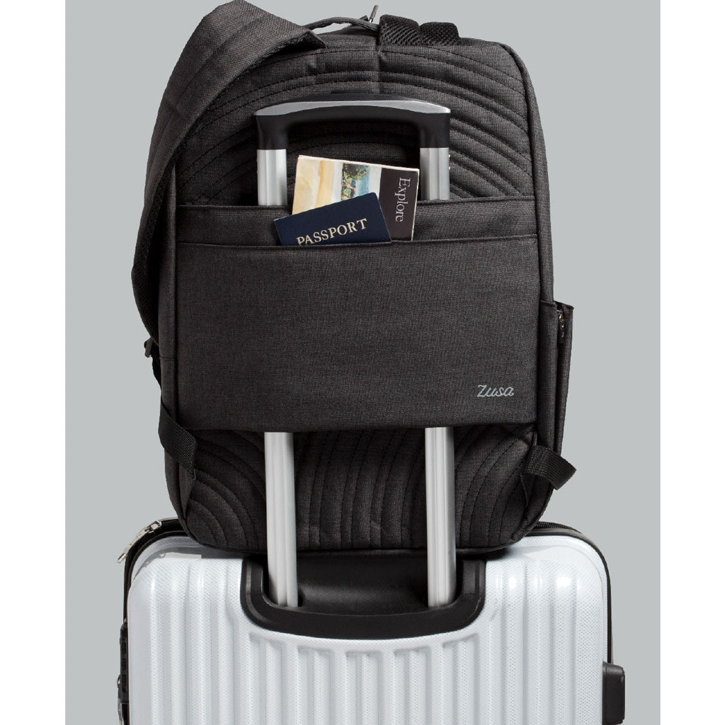 Zusa Black Heather Structured Transit Pack