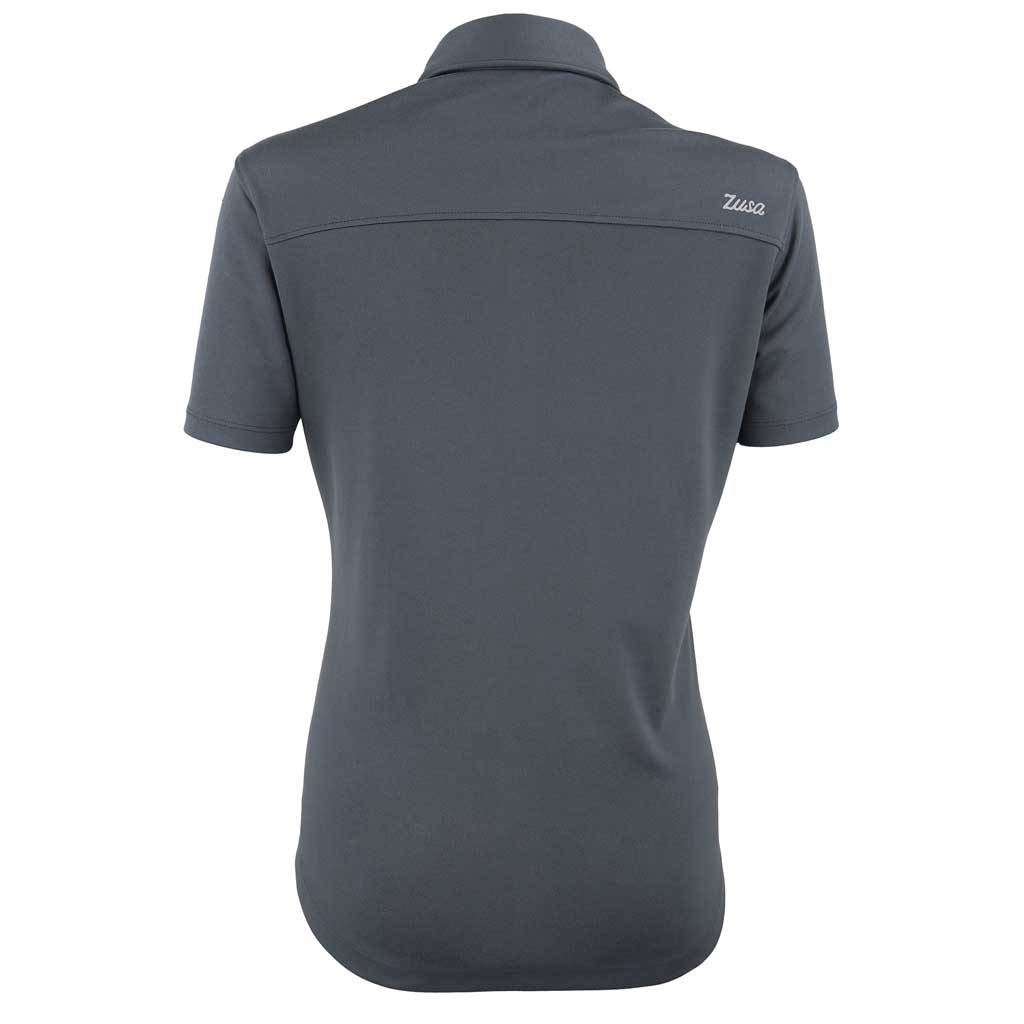 Zusa 3 Day Women's Charcoal Everyday Pique Polo