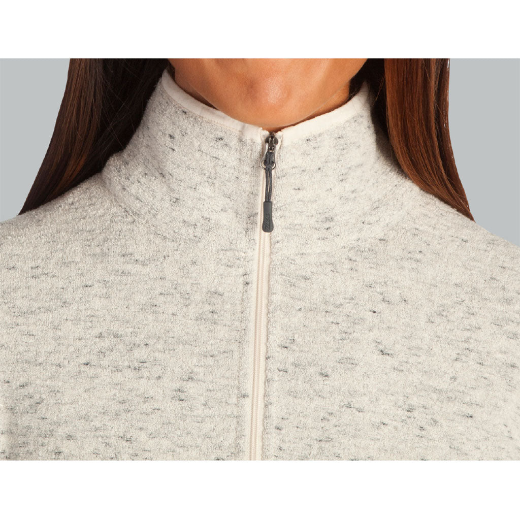 Zusa 4 Day Women's Oatmeal Chilly Fleece Quarter Zip