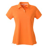 adidas-womens-orange-pique-polo