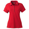 adidas-womens-red-jersey-polo