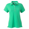 adidas-womens-light-green-jersey-polo