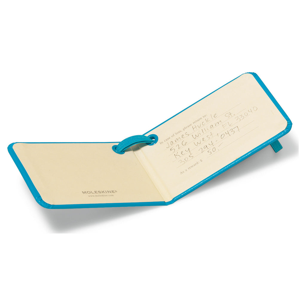 Moleskine Blue Luggage Tag