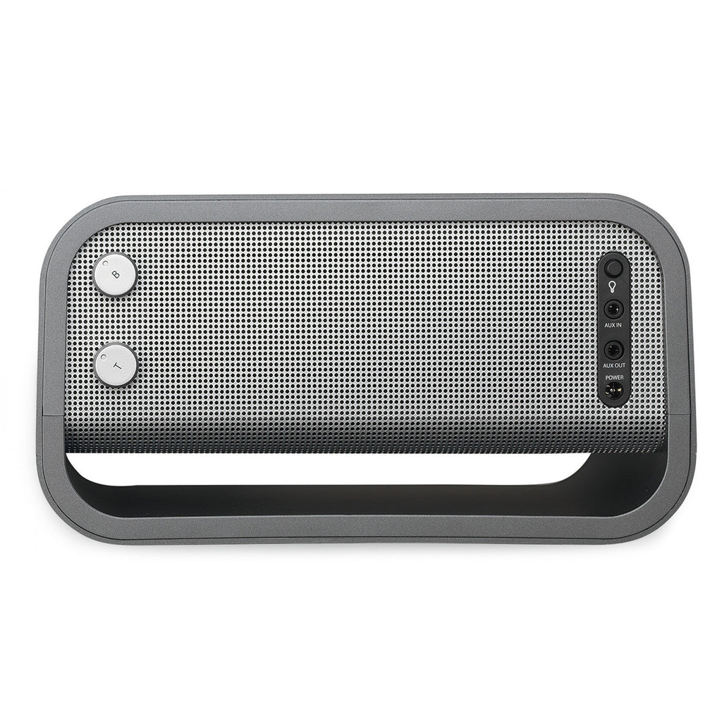 Brookstone Matte Graphite Big Blue Studio Bluetooth Speaker