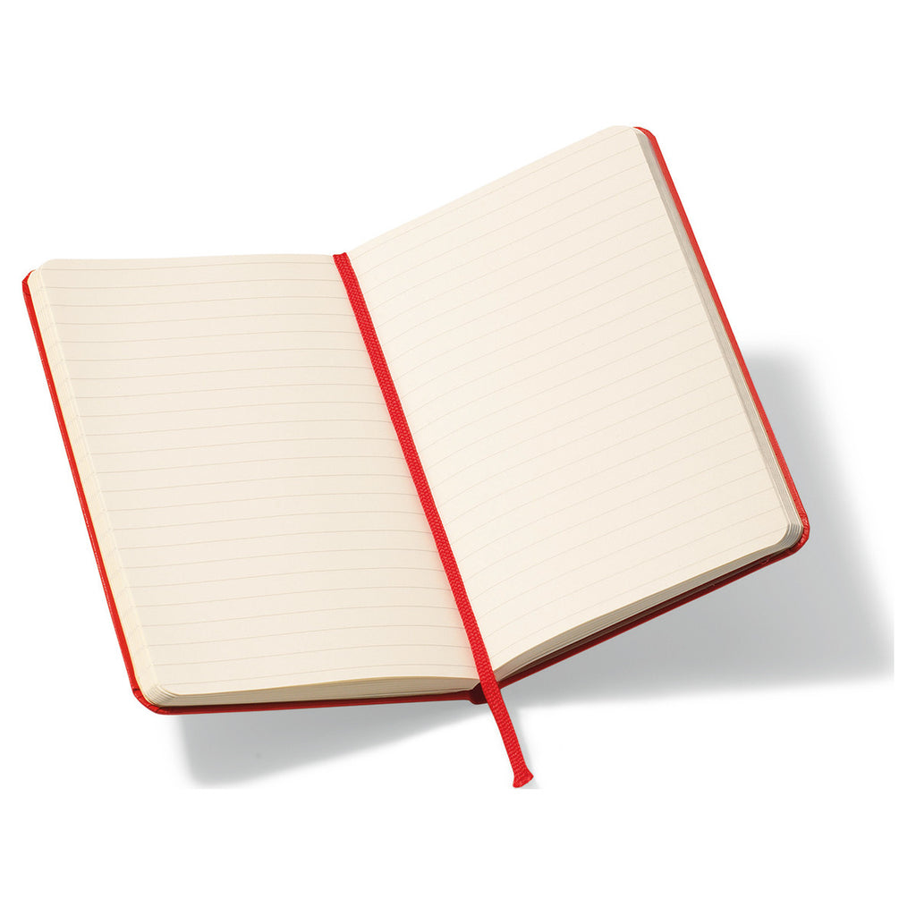 "Moleskine Red Hard Cover Ruled Pocket Notebook (3.5"" x 5.5"")"