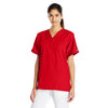 cherokee-red-v-neck-pockets