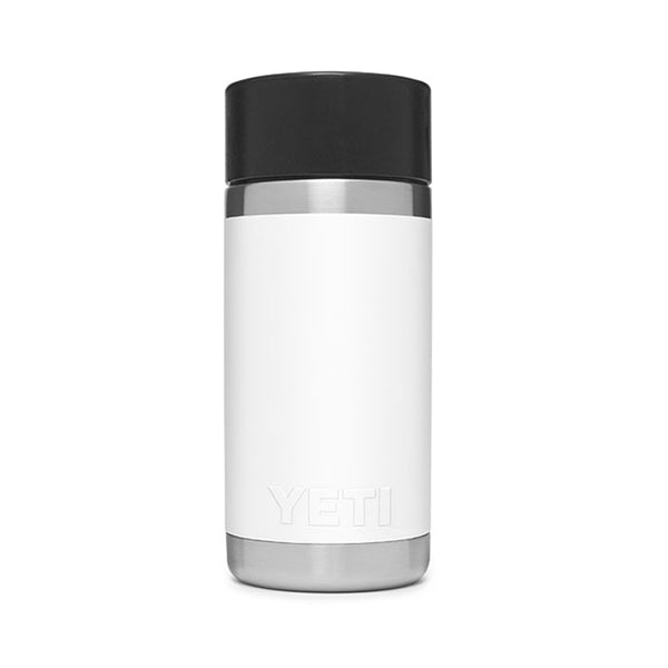 YETI White Rambler 12 oz Bottle with Hotshot Cap
