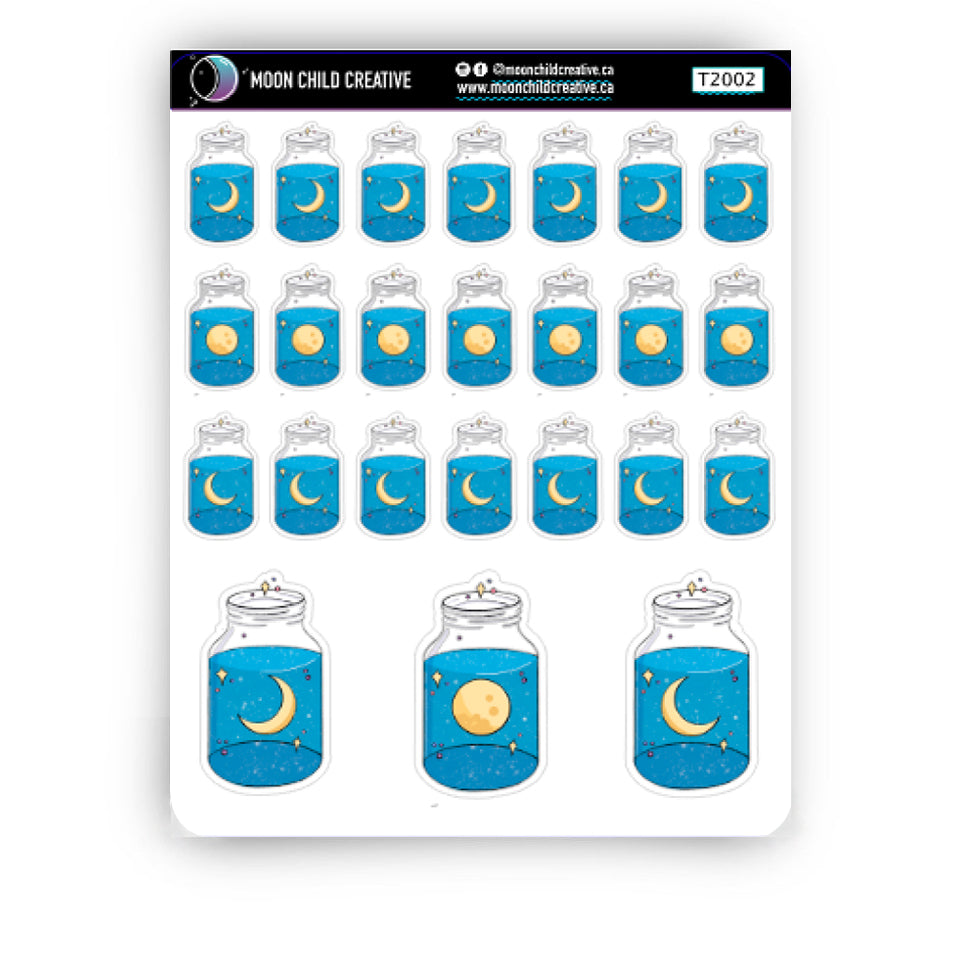 Moon Jars Sticker Sheets