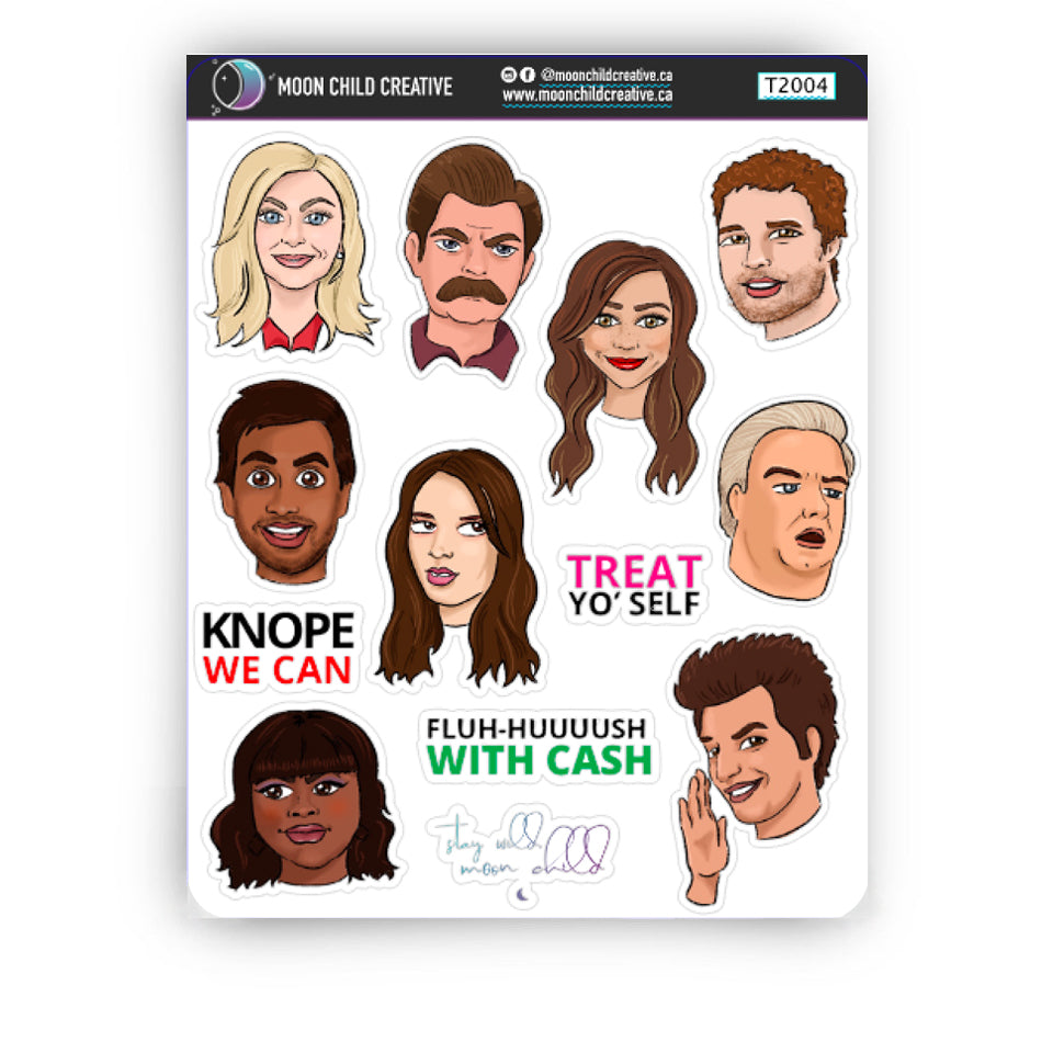 Friends, Waffles, Work Sticker Sheets