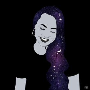"Custom ""Galaxy Babe"" Portrait"