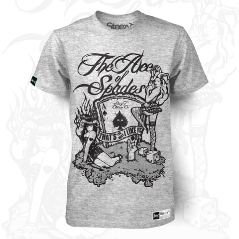 The Ace of Spades - Fashion T-Shirt Large / Heather Grey / Ladies Fit, T-Shirt - SteezyT, SteezyT™ Clothing Co  - 1
