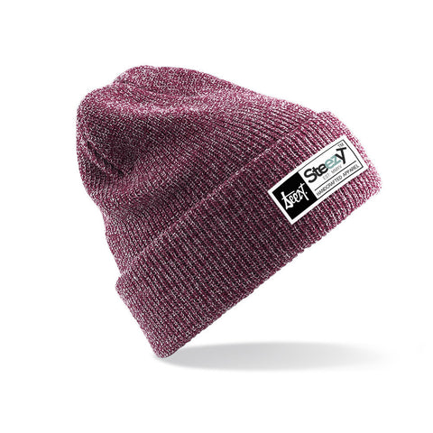 SteezyT® Beanie - Heather Burgundy Beanie - Heather Burgundy, Hats - SteezyT, SteezyT™ Clothing Co  - 1