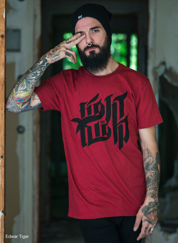 Fight or Flight T-shirt - Red , T-Shirt - SteezyT, SteezyT™ Clothing Co  - 3