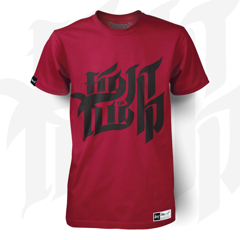 Fight or Flight T-shirt - Red Large / Red / Unisex, T-Shirt - SteezyT, SteezyT™ Clothing Co  - 1