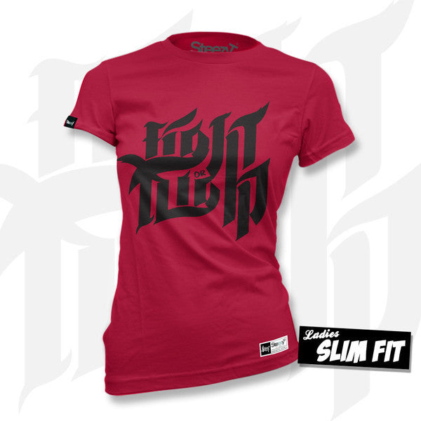 Fight or Flight T-shirt - Red Medium / Red / Ladies Fit, T-Shirt - SteezyT, SteezyT™ Clothing Co  - 8