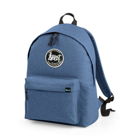 SteezyT® Two-Tone Denim Blue Rucksack Denim Blue, Bags - SteezyT, SteezyT™ Clothing Co