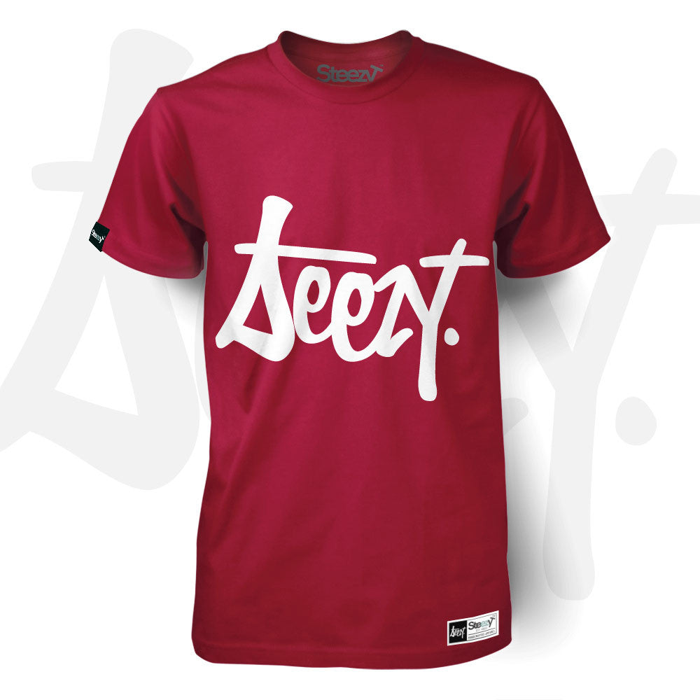 SteezyT® - Emblem T-shirt Small / Red / Unisex, T-Shirt - SteezyT, SteezyT™ Clothing Co  - 2