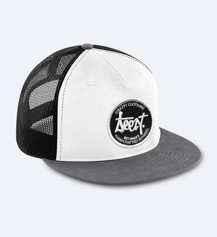 SteezyT® Mesh Snapback - White/Black/Grey One size fits all, Hats - SteezyT, SteezyT™ Clothing Co