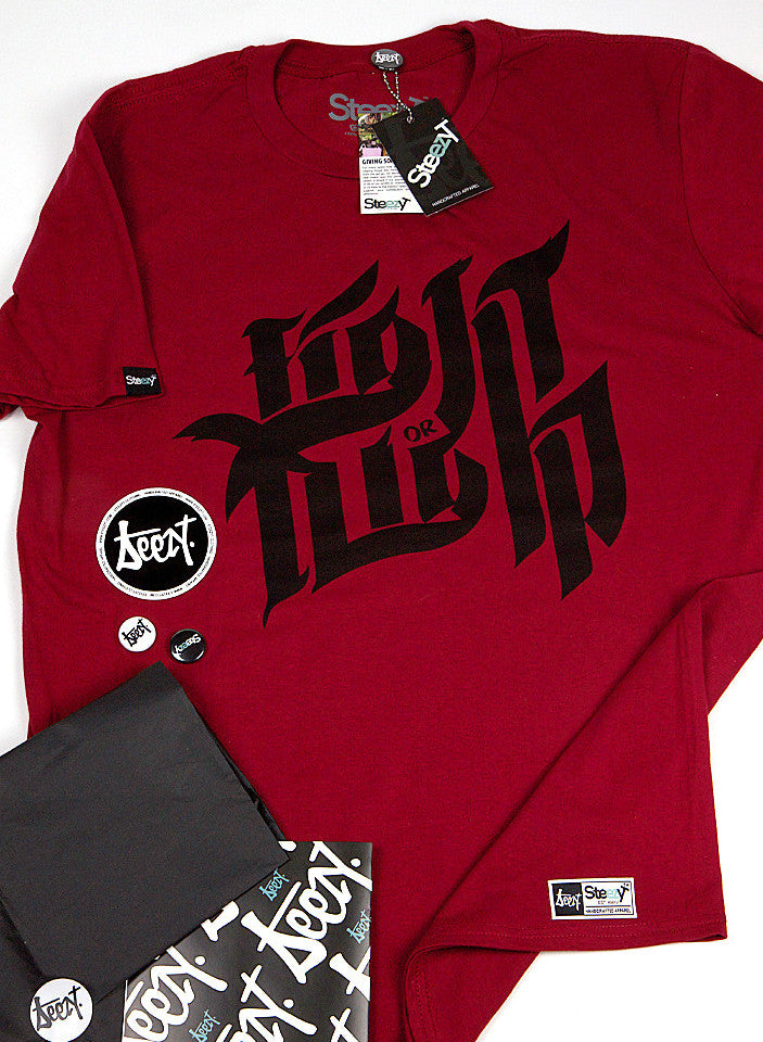 Fight or Flight T-shirt - Red , T-Shirt - SteezyT, SteezyT™ Clothing Co  - 7