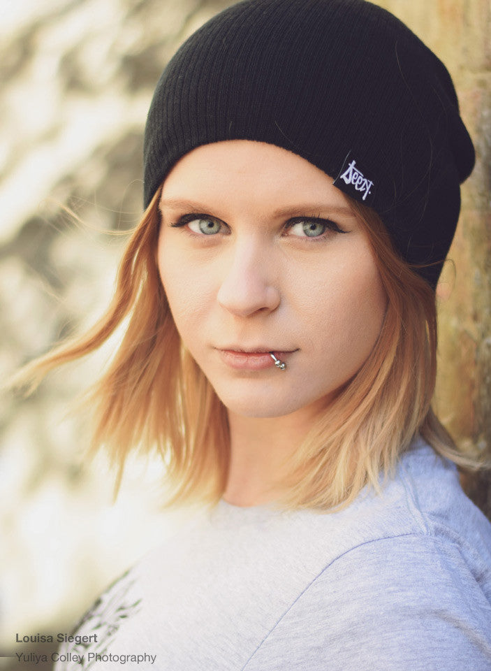 Slouch Beanie - Smoke , Hats - SteezyT, SteezyT™ Clothing Co  - 3