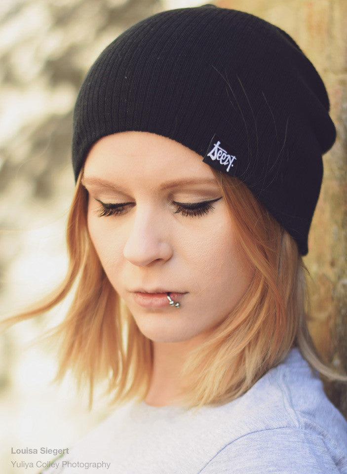 Slouch Beanie - Smoke , Hats - SteezyT, SteezyT™ Clothing Co  - 5