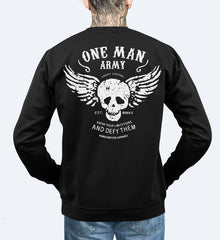 One Man Army - Sweatshirt Small, Outerwear - SteezyT, SteezyT™ Clothing Co  - 1