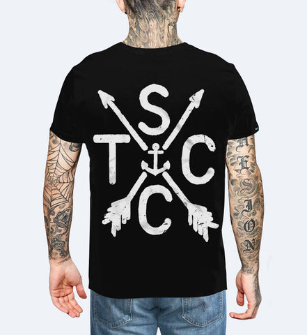 STCC - Black Unisex T-shirt Small, T-Shirt - SteezyT, SteezyT™ Clothing Co  - 1
