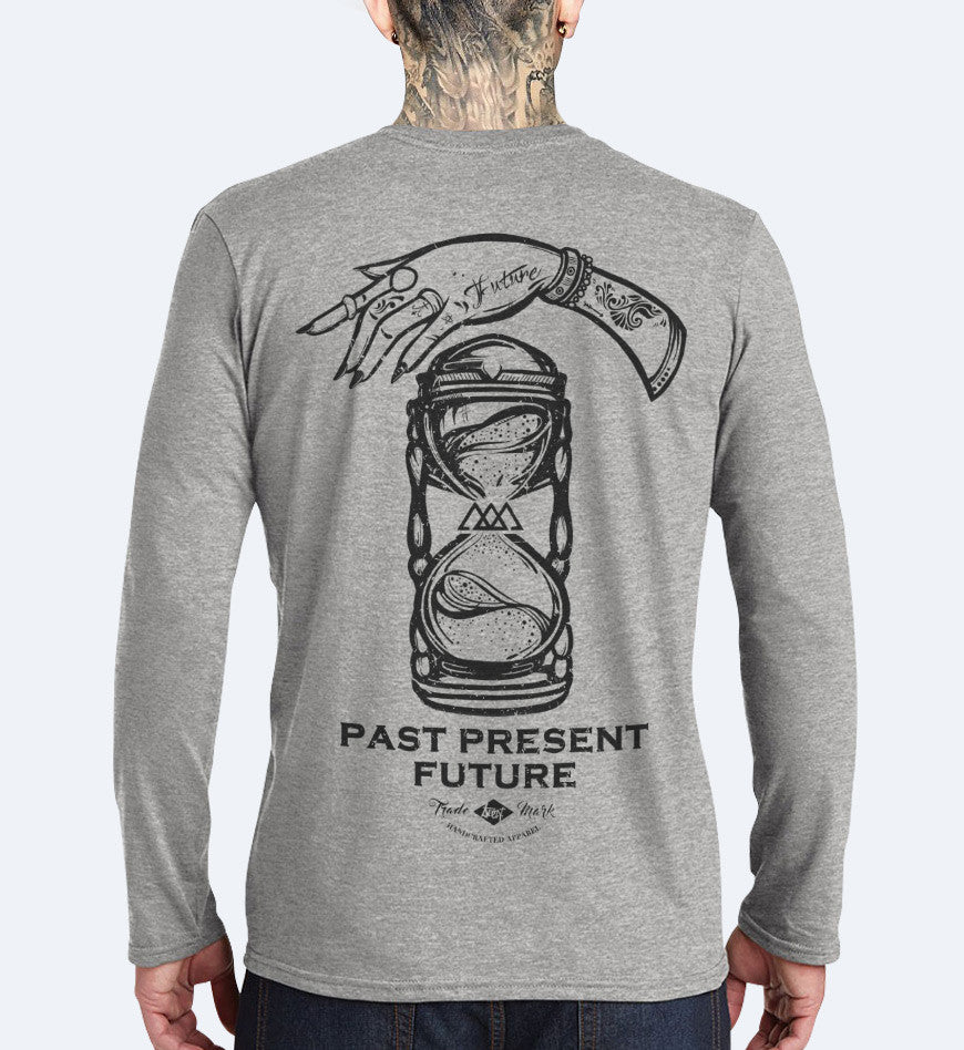 Past Present Future - Long Sleeve T-shirt Small, T-Shirt - SteezyT, SteezyT™ Clothing Co  - 1