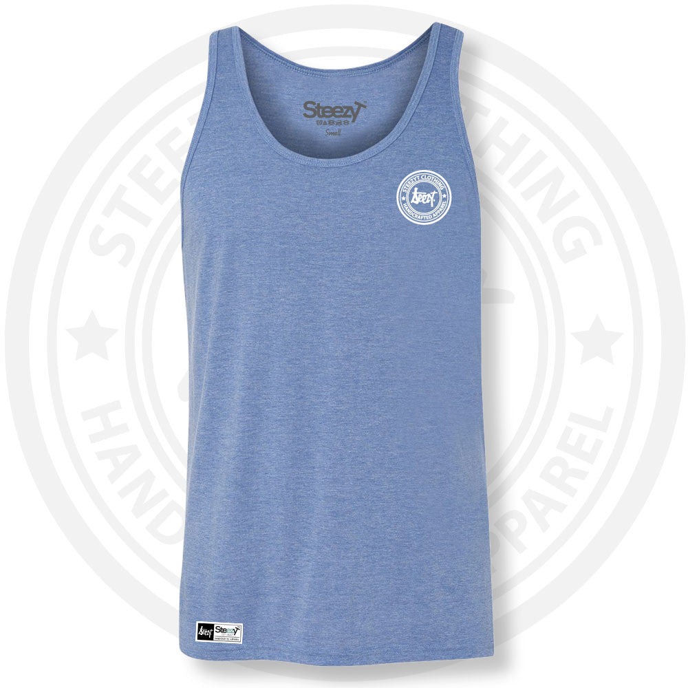 SteezyT Tri-Blend Blue Jersey Tank Small, Tanks - SteezyT, SteezyT™ Clothing Co  - 1