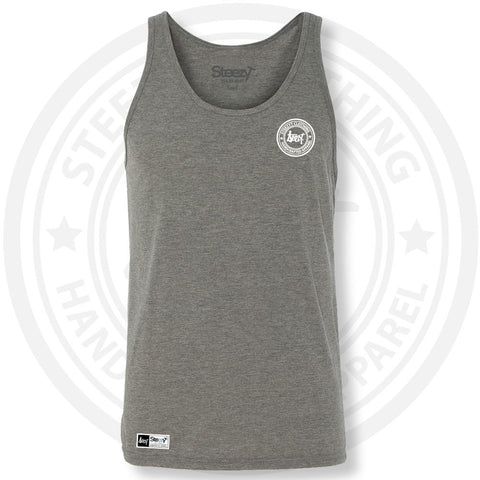 SteezyT® Tri-Blend Grey Jersey Tank Small, Tanks - SteezyT, SteezyT™ Clothing Co  - 1