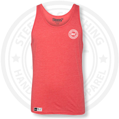 SteezyT® Tri-Blend Red Jersey Tank Small, Tanks - SteezyT, SteezyT™ Clothing Co  - 1