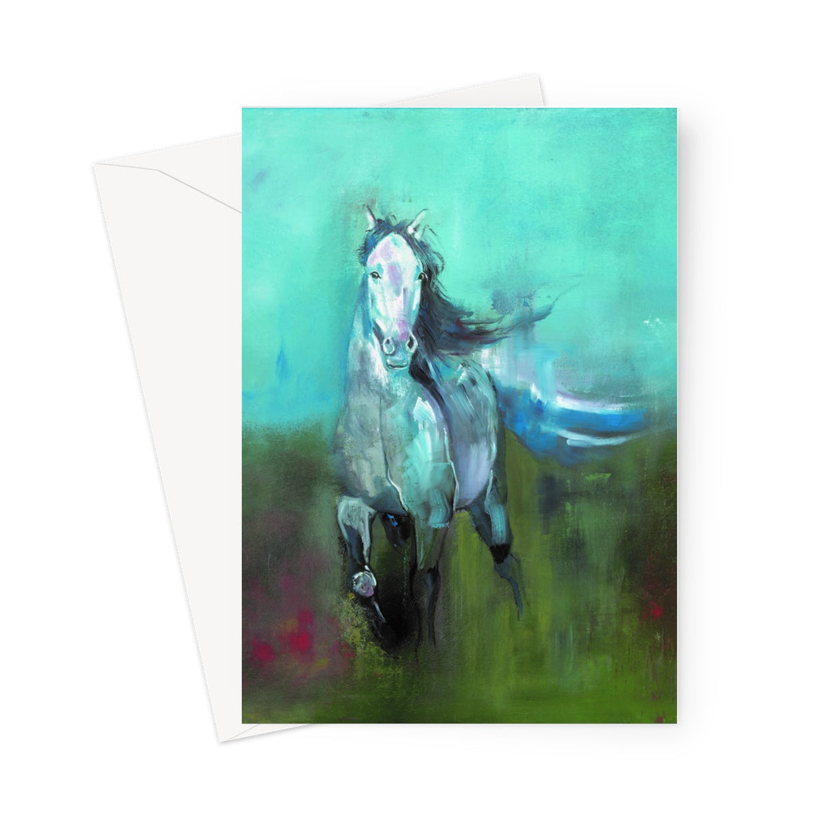 Storm in a Summer Field Greeting Card