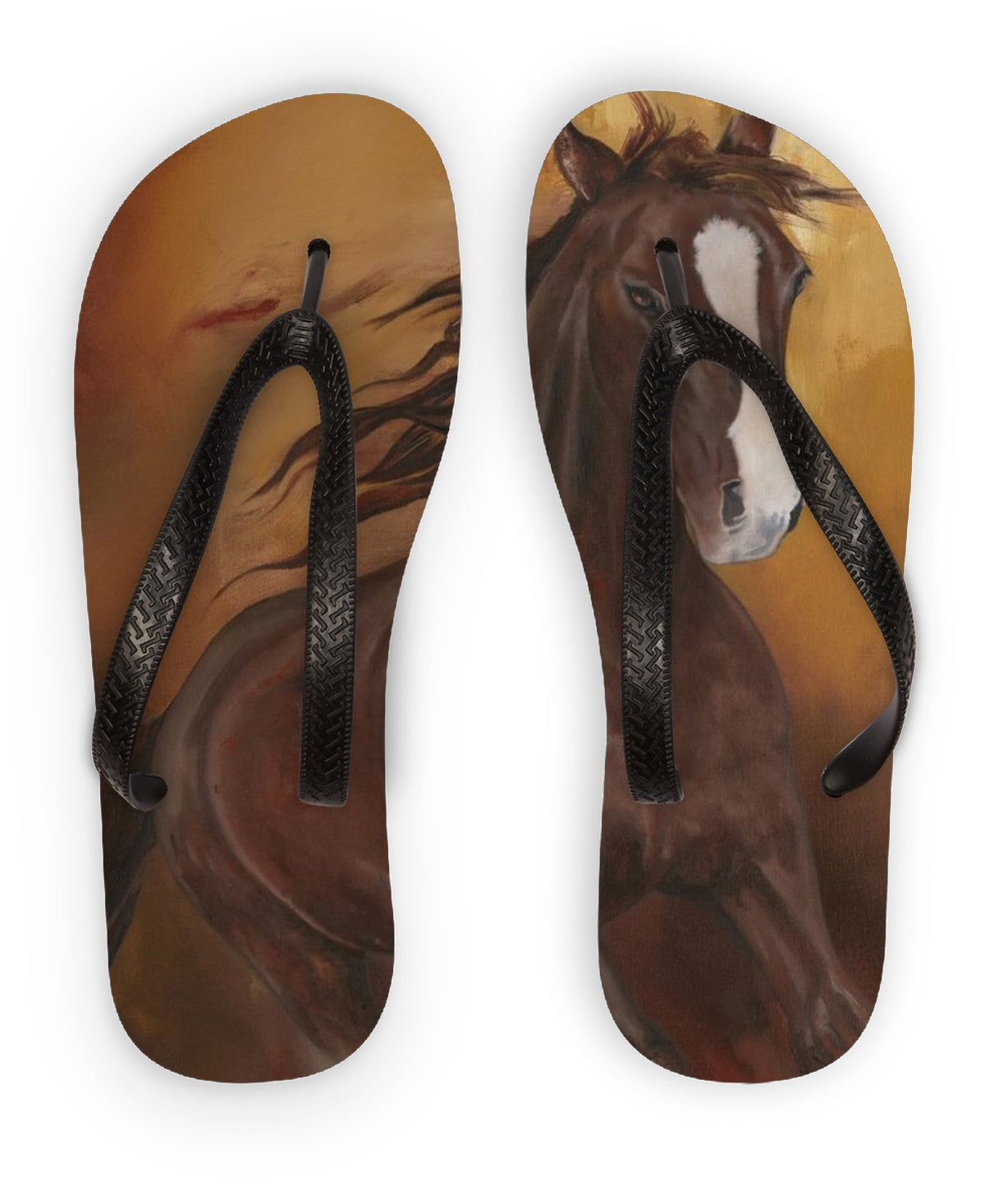 Borne of Fire Flip Flops