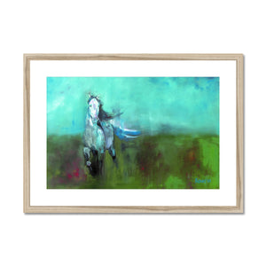 Storm in a Summer Field Framed & Mounted Print
